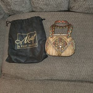MARY FRANCES NOVELTY COLLECTION BEADED BAG